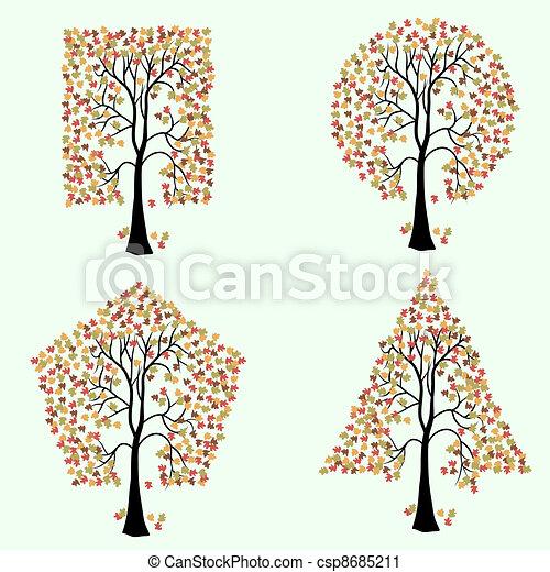 anders, bomen, shapes., geometrisch - csp8685211