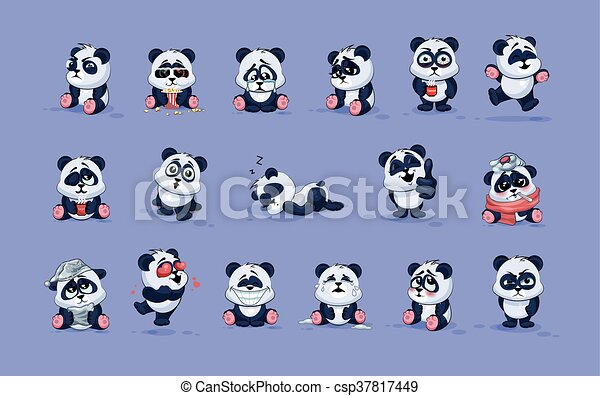 anders, karakter, emoticons, emoties, vrijstaand, panda, illustraties, stickers, spotprent, emoji - csp37817449