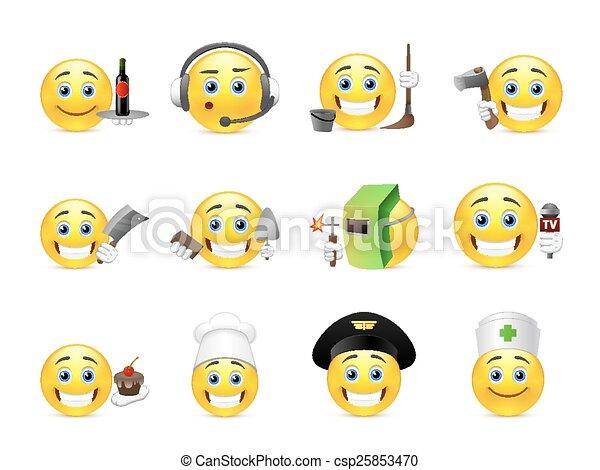 anders, smilies, beroepen - csp25853470