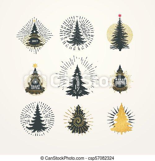anders, starburst, illustratie, vector, bomen, kerstmis - csp57082324