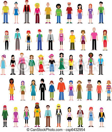 anders, vector, verzameling, mensen - csp6432954