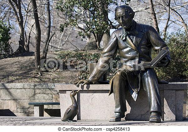 andersen, parque, central, hans, cristiano, escultura - csp4258413