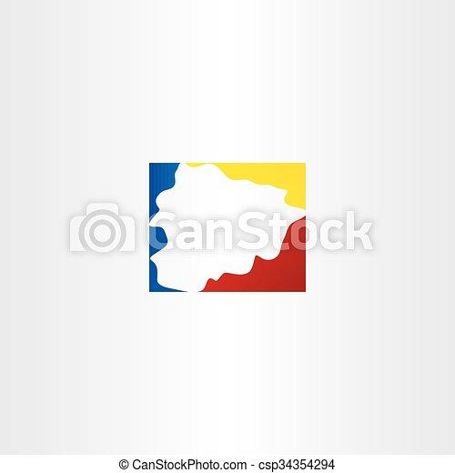 andorra vector map logo icon symbol - csp34354294