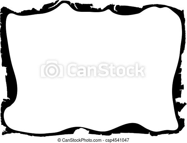 Andrajoso, marco, bordes, -, vector. Grunge, bordes, imagen ...