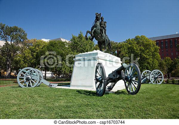 Andrew Jackson in Lafayette Square, Washington D.C. - csp16703744