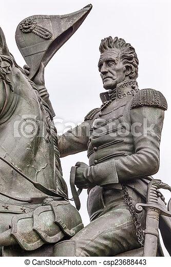 Andrew Jackson Statue Lafayette Park Pennsylvania Ave Washington - csp23688443