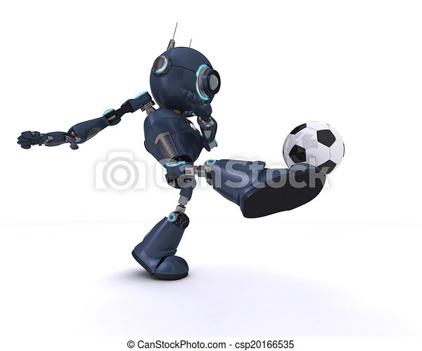 Android playing football - csp20166535