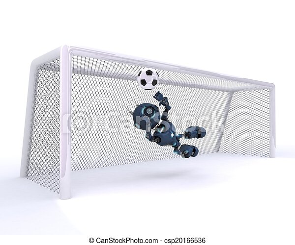 Android playing football - csp20166536