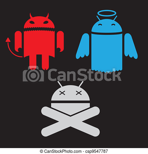 android robot different versions of - csp9547787