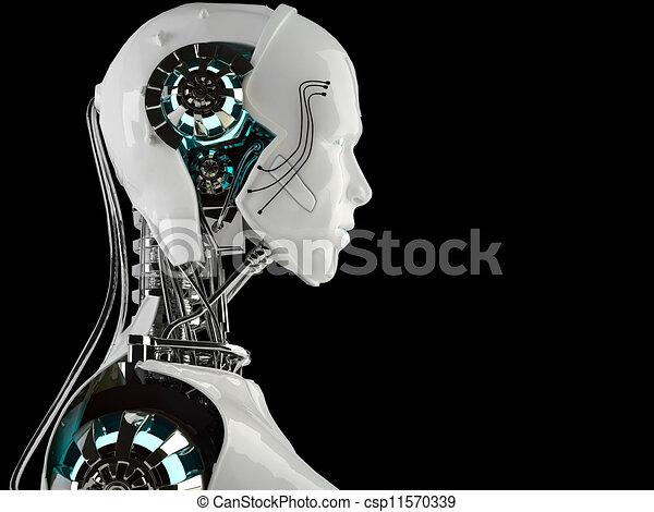 Hombres androides robot - csp11570339