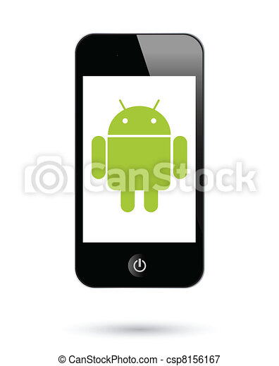 androide, smartphones, operationg, sistema - csp8156167