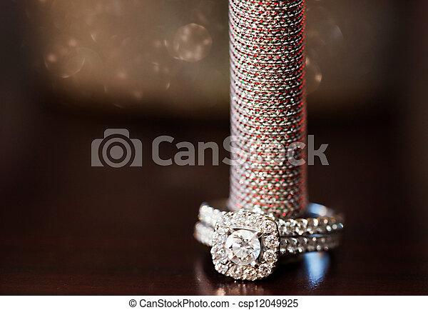 anel, casório - csp12049925