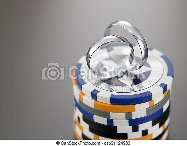 anelli, matrimonio - csp31124983