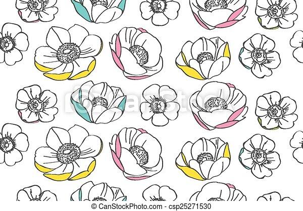 Anemone flower pattern - csp25271530