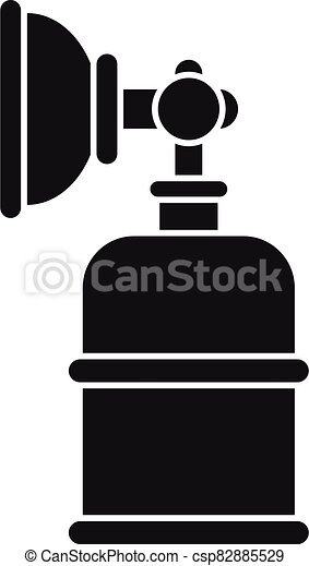 anesthésie, bouteille, style, simple, masque, icône - csp82885529