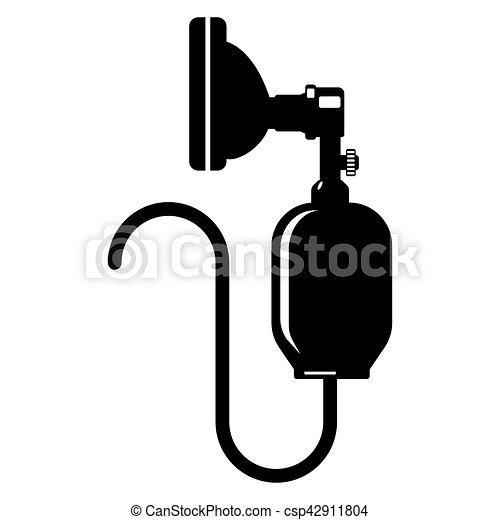 anesthesia icon silhouette isolated on white bag valve