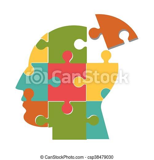anføreren, ikon, opgave, menneske, stykker - csp38479030