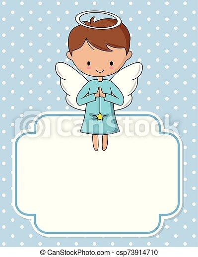 ange, étoile, garçon - csp73914710