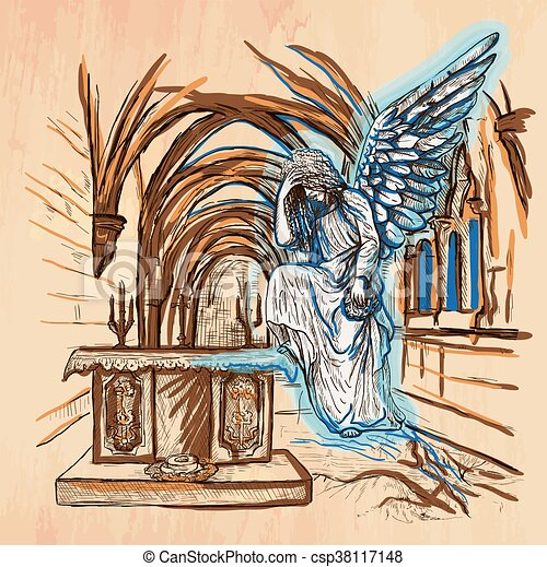 Angel - An hand drawn vector - csp38117148