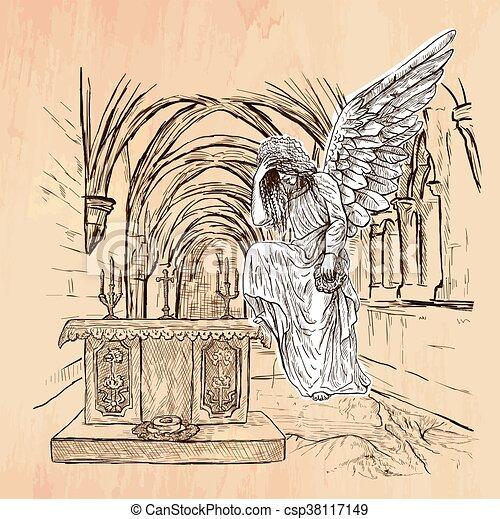 Angel - An hand drawn vector - csp38117149