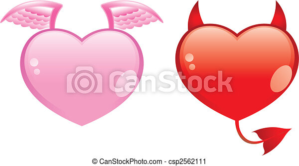angel and devil hearts - csp2562111