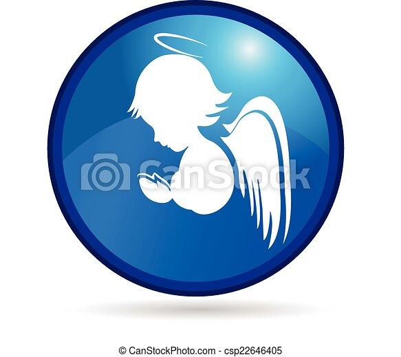 Angel button logo - csp22646405