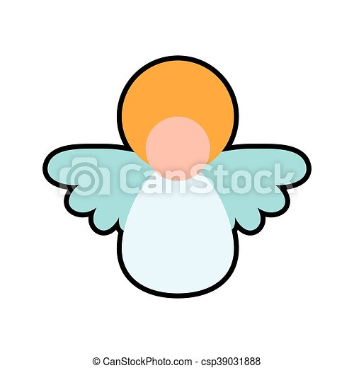 angel cartoon fairy wing heaven icon vector graphic angel rh canstockphoto com