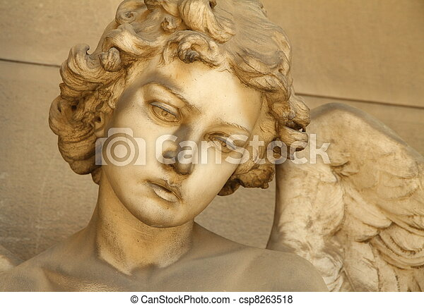 angel face - sculpture - csp8263518