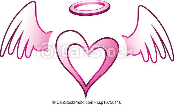 Angel Heart and Wings - csp16758116