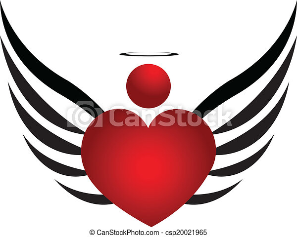 Angel icon logo design - csp20021965