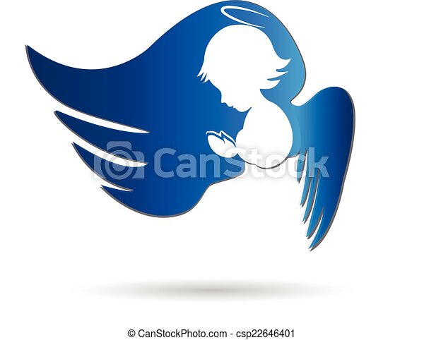 Angel icon logo - csp22646401