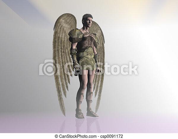 Angel in the mist. - csp0091172