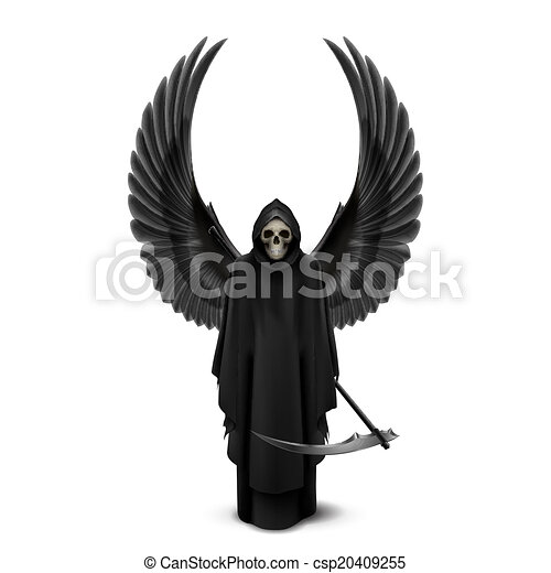 Angel of death with two wings - csp20409255