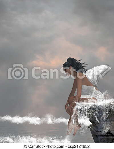 Angel On Water - csp2124952