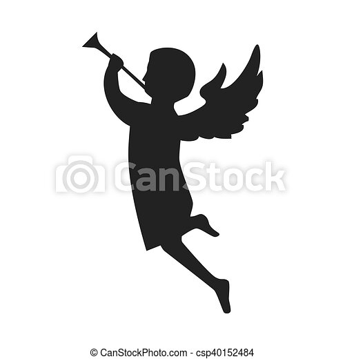 angel playing a trumpet - csp40152484
