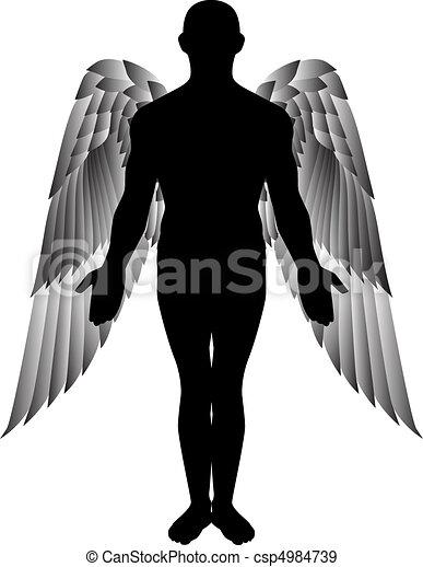 angel silhouette - csp4984739