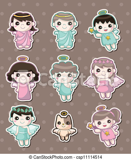 angel stickers - csp11114514