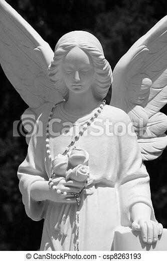 angel tombstone  - csp8263193