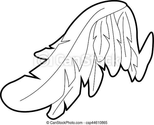 angel wing icon outline style angel wing icon outline clip art rh canstockphoto com angel wings clip art for memorial angel wings clip art for memorial