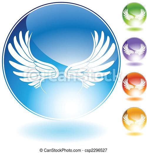 angel wing set crystal - csp2296527