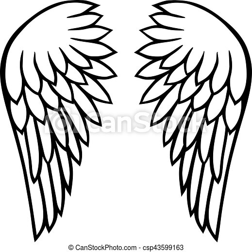 angel wings clip art vector search drawings and graphics images rh canstockphoto com clip art wingspan clip art wingspan