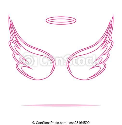 Angel wings vector illustration - csp28164599