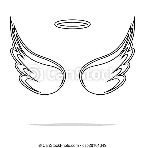 Angel wings vector illustration  - csp28161349