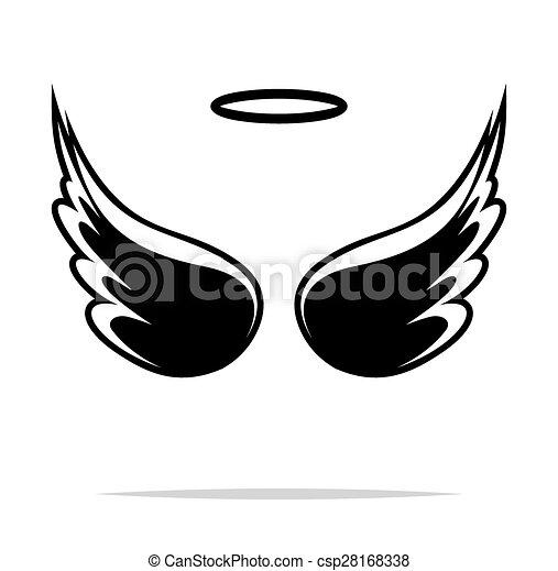 Angel wings vector illustration - csp28168338