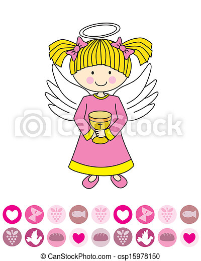 Angel with a chalice - csp15978150