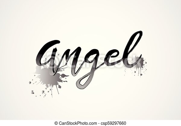 Angel Word Logo Vector