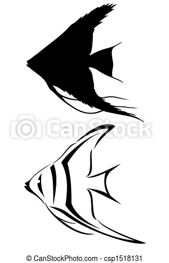 angelfish. a black tribal angelfish tattoo. | canstock  can stock photo