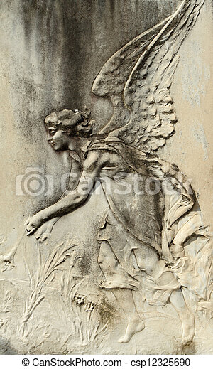 angelic bas-relief - csp12325690