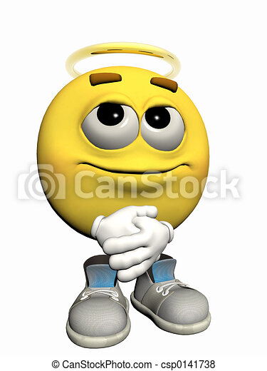 Angelic Emoticon guy - csp0141738