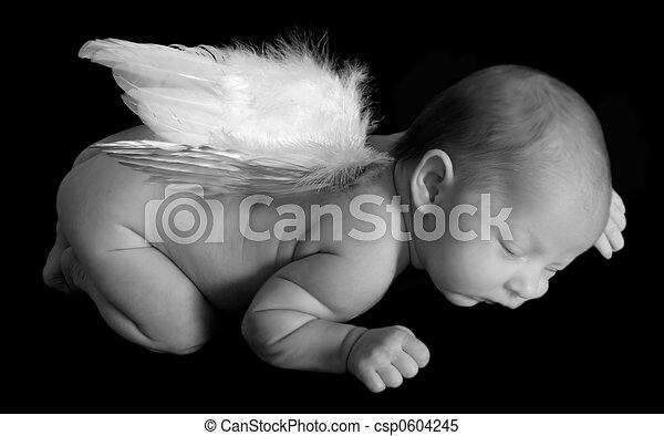 Angelic Infant Sleeping - csp0604245